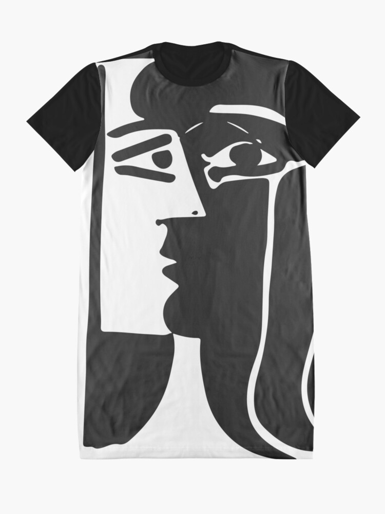 Alternate view of Pablo Picasso Kiss 1979 Artwork Reproduction For T Shirt, Framed Prints Graphic T-Shirt Dress