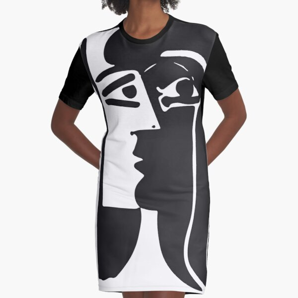 Pablo Picasso Kiss 1979 Artwork Reproduction For T Shirt, Framed Prints Graphic T-Shirt Dress