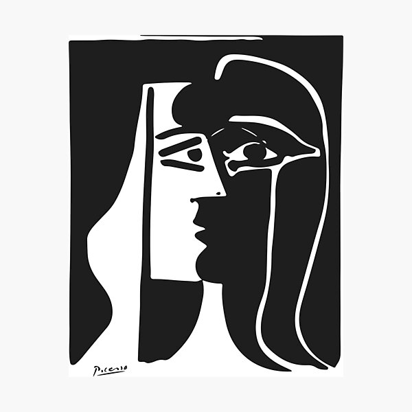 Pablo Picasso Kiss 1979 Artwork Reproduction For T Shirt, Framed Prints Photographic Print