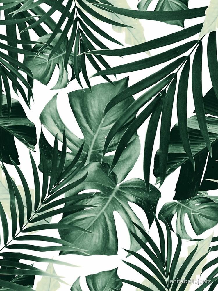 Tropical Jungle Leaves Pattern #4 #tropical #decor #art by anitabellajantz