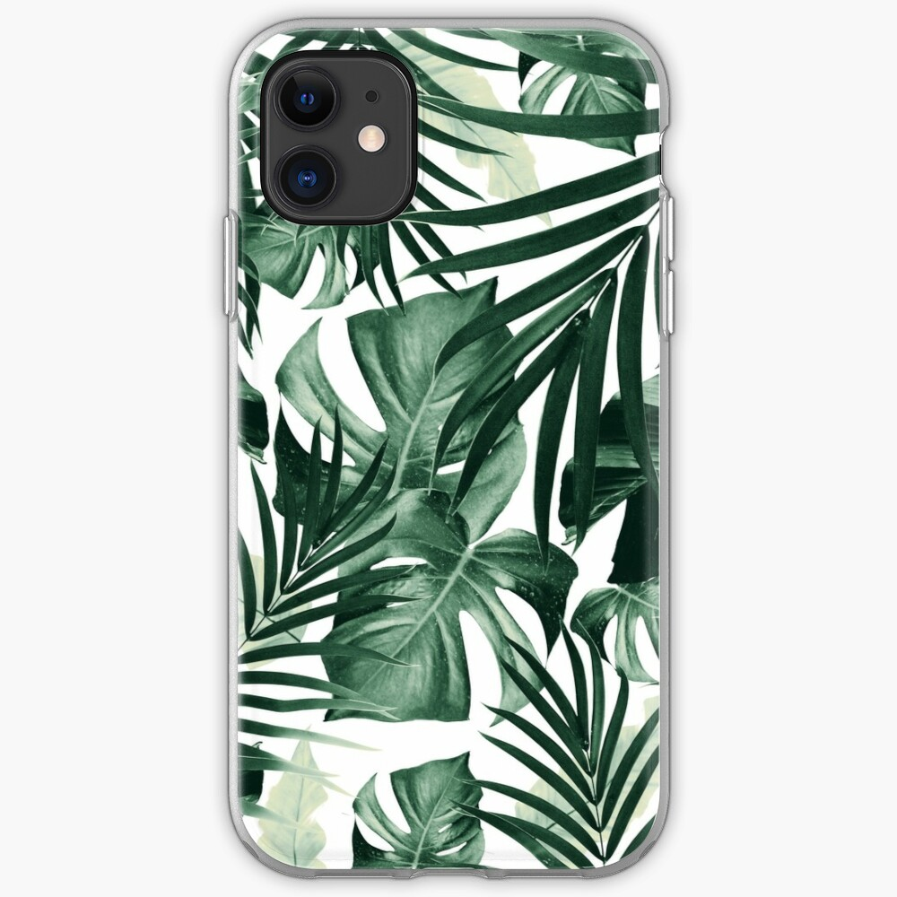 Tropical Jungle Leaves Pattern #4 #tropical #decor #art iPhone Case & Cover