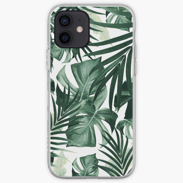 Tropical Jungle Leaves Pattern #4 #tropical #decor #art iPhone Soft Case