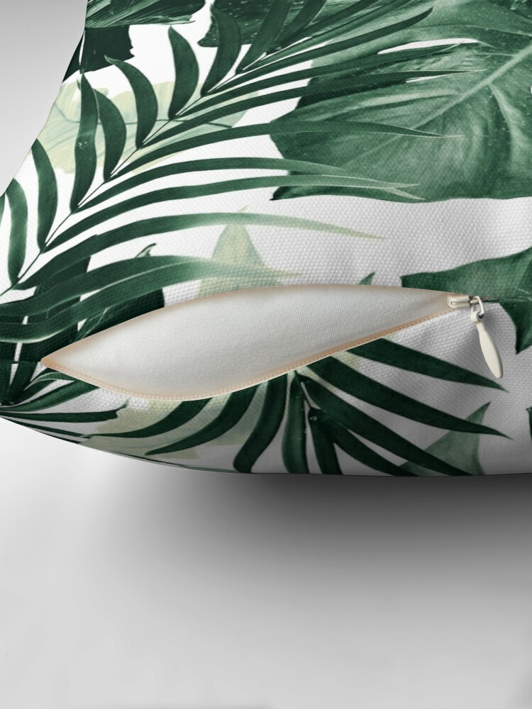 Alternate view of Tropical Jungle Leaves Pattern #4 #tropical #decor #art Throw Pillow