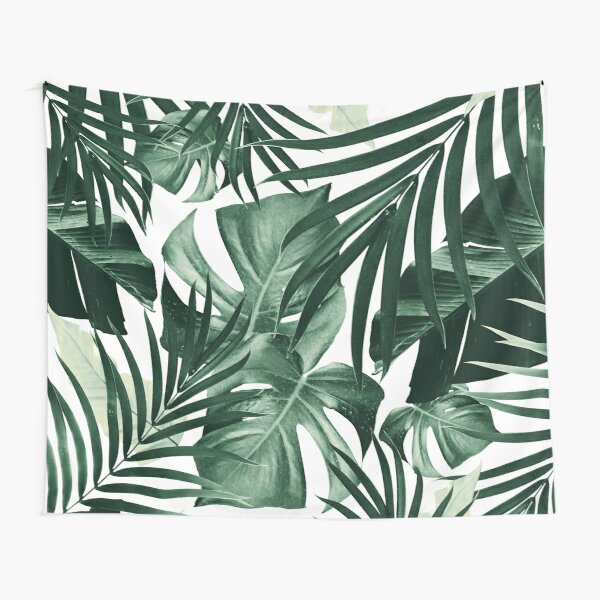 Tropical Jungle Leaves Pattern #4 #tropical #decor #art Tapestry
