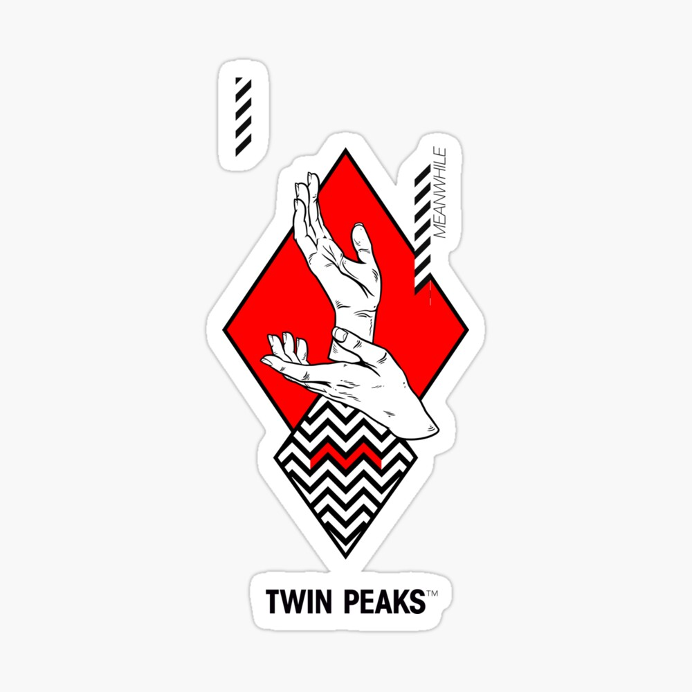 Meanwhile Twin Peaks Poster By 7115 Redbubble