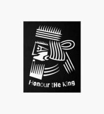 Honor The King  Art Board Print