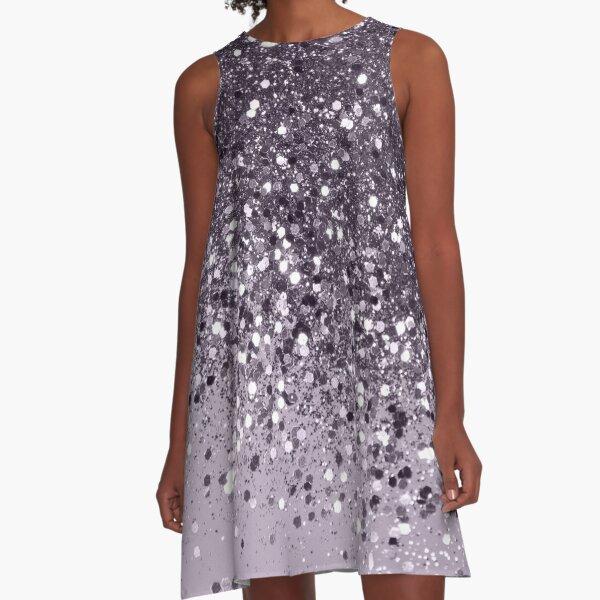 Sparkling Lavender Lady Glitter #2 #shiny #decor #art A-Line Dress
