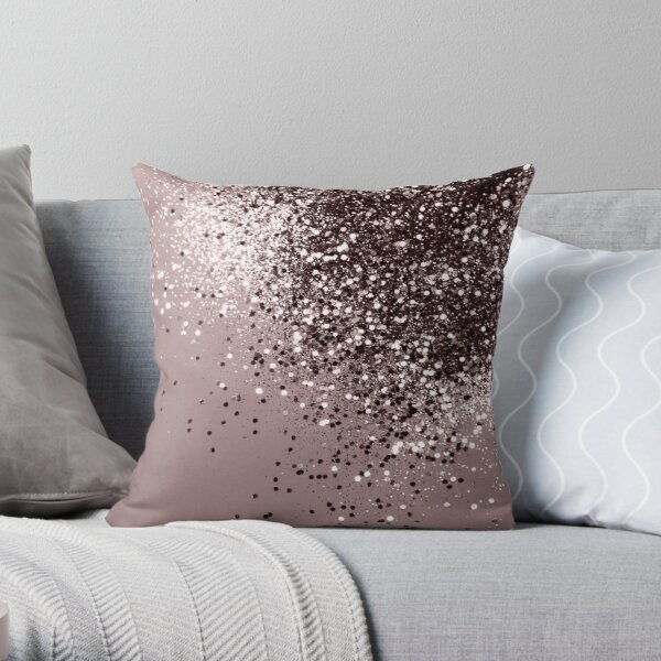 Sparkling Mauve Lady Glitter #1 #shiny #decor #art Throw Pillow