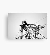 electric linesmen Canvas Print