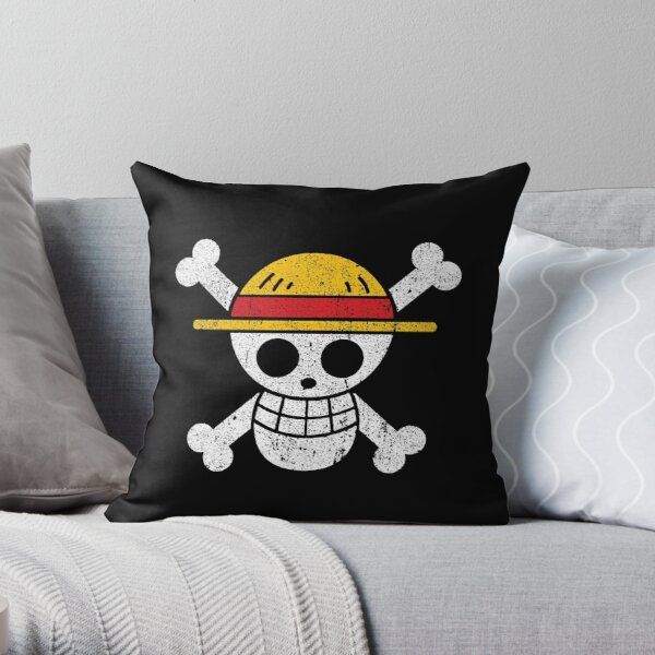 Straw Hat Pirates Jolly Roger Throw Pillow