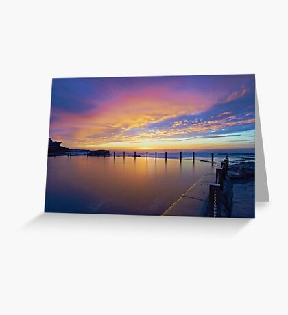 Mahon Pool Sunrise II Greeting Card