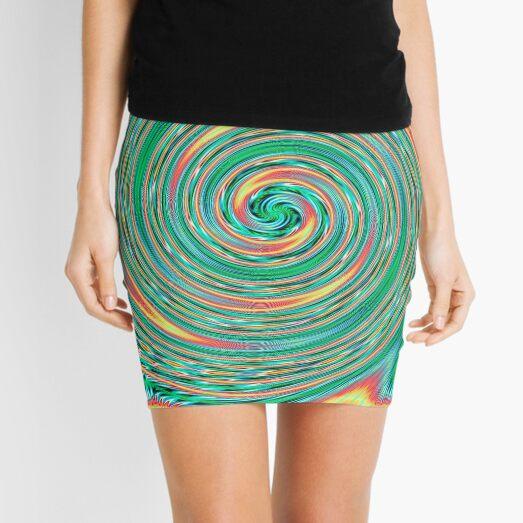 #MOVING #EYE #ILLUSION #Pattern, design, circular, abstract, illustration, art Mini Skirt