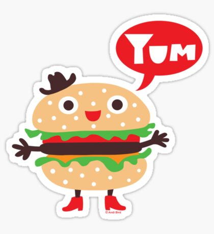 Cheeseburger yum Sticker