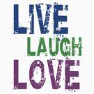 Live, Laugh, Love by zzzeeepsdesigns