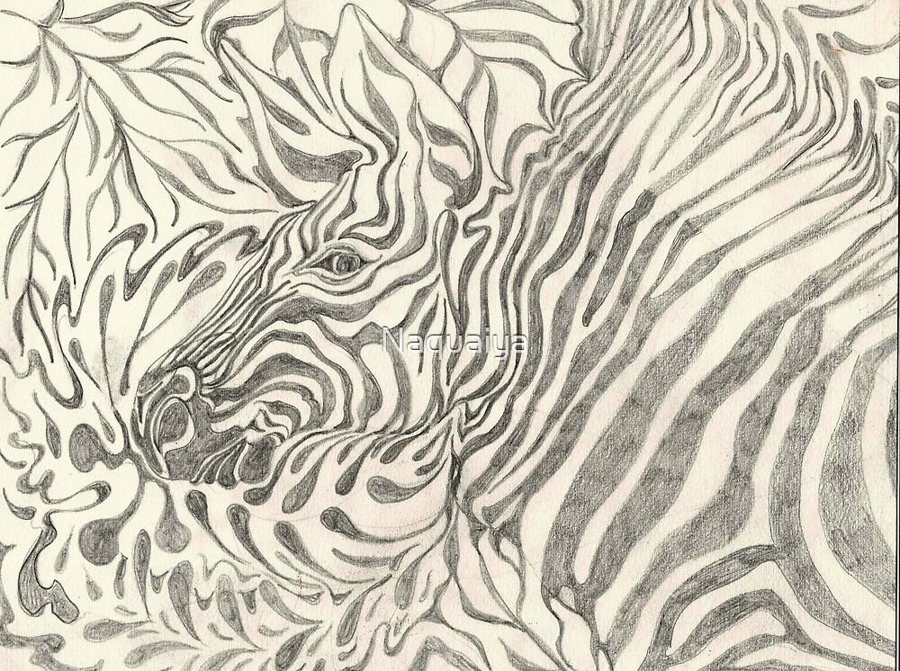 Zebra study in graphite by Naquaiya