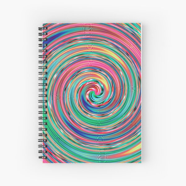 #MOVING #EYE #ILLUSION #Pattern, design, circular, abstract, illustration, art Spiral Notebook