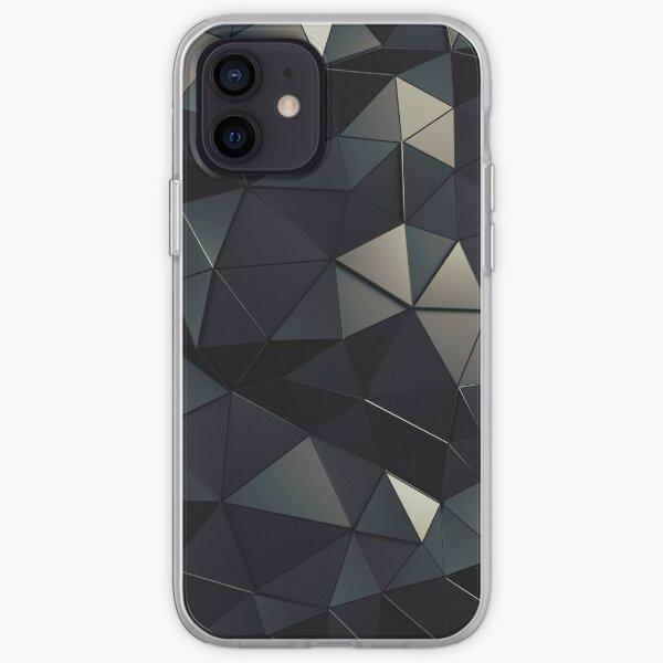 Polygon Noir iPhone Soft Case