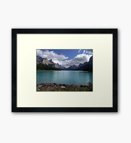 Maligne Lake from Spirit Island Framed Print