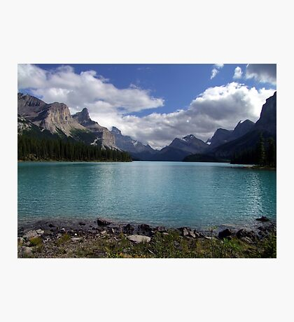 Maligne Lake from Spirit Island Photographic Print