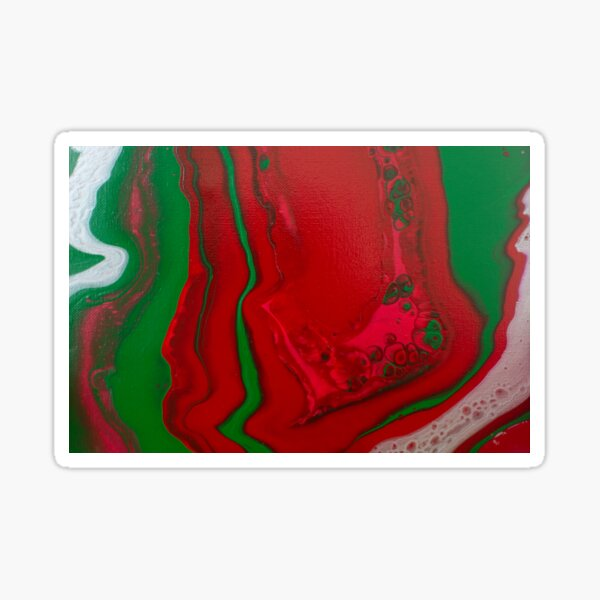 Swirled Candy - Abstract Acrylic Painting Sticker