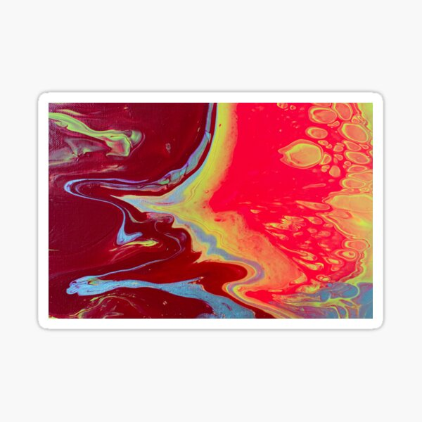 Submerging - Abstract Acrylic Painting Sticker