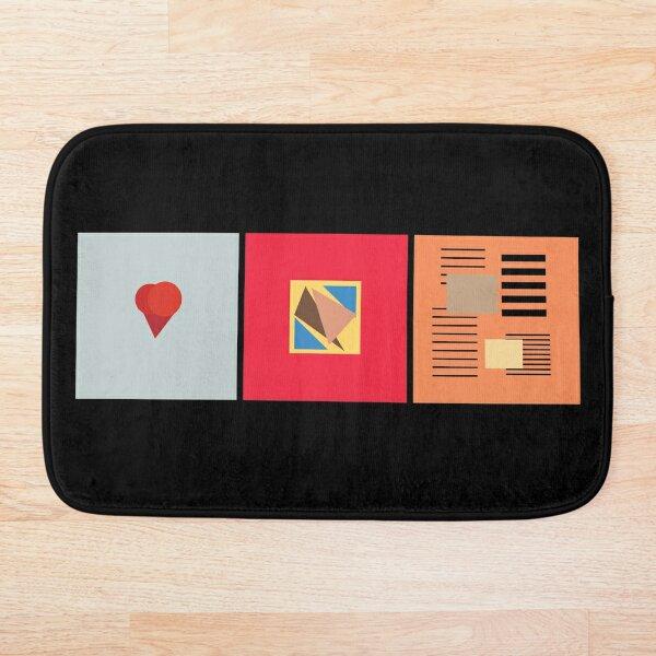 Kanye abstract album art Bath Mat