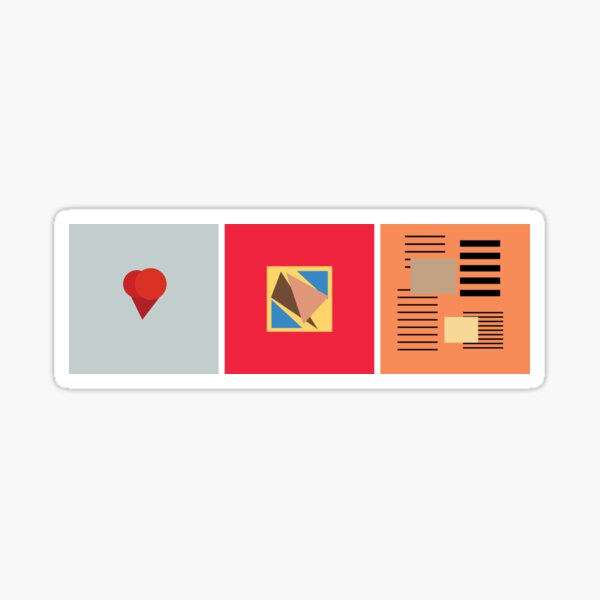 Kanye abstract album art Sticker