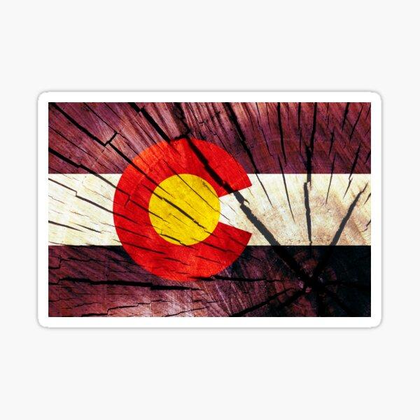 Flag of Colorado - Tree Trunk Wood Sticker