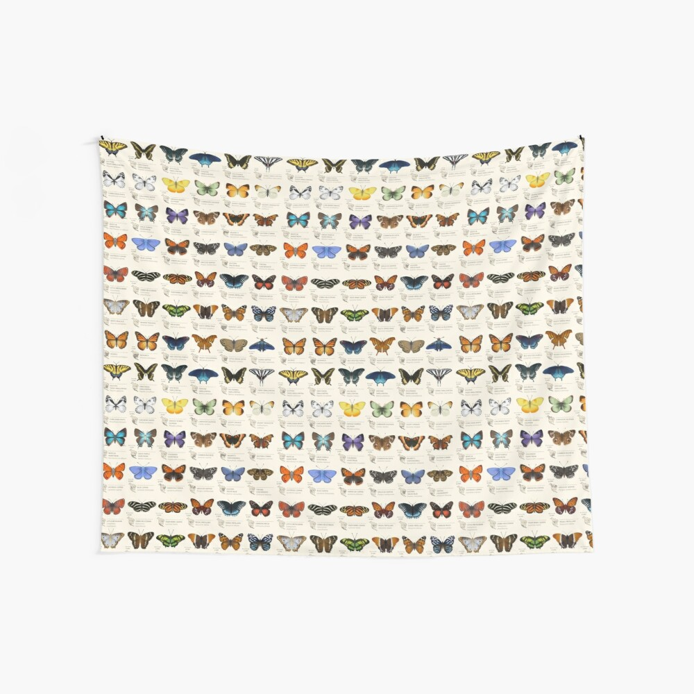 Butterflies of North America Wall Tapestry