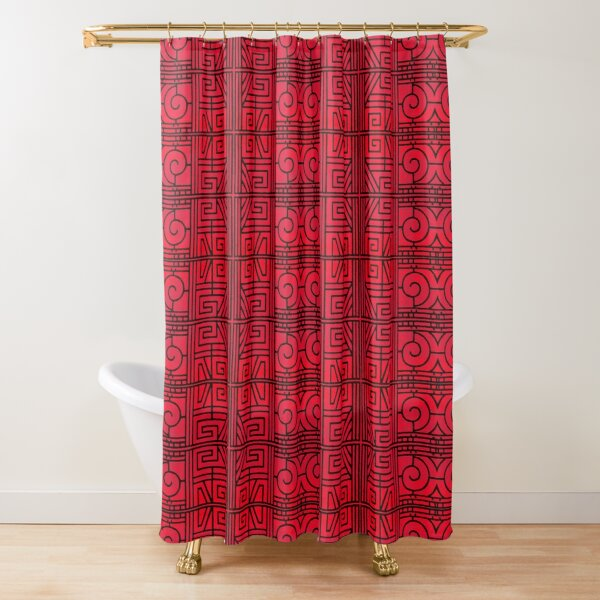 Primitif 117 by Hypersphere Shower Curtain
