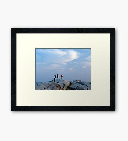 Enjoy The Evening Framed Print