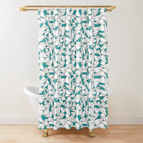 Triangoli 44 by Hypersphere Shower Curtain