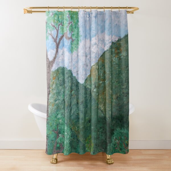 At the farm Shower Curtain