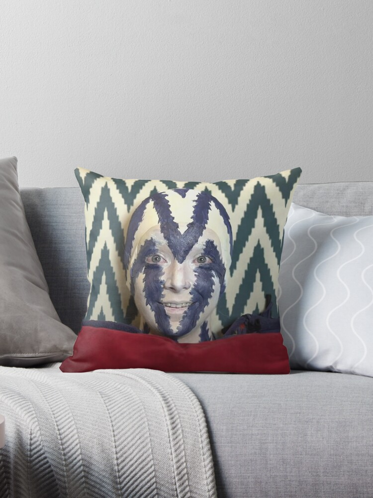 I M A Chair Beech Throw Pillow By Scrambledtofu Redbubble