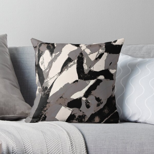 Organic No.2 Abstract #muted #redbubble #artprints #fineart Throw Pillow