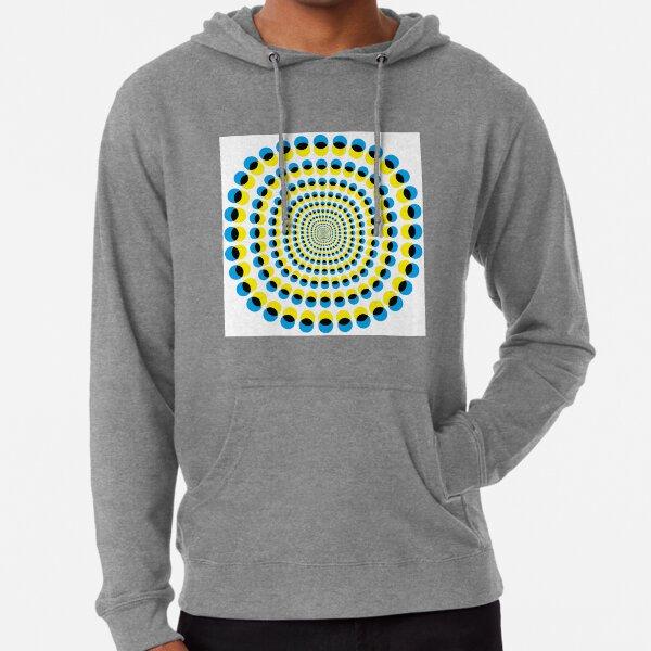 #pattern, #art, #circular, #abstract, design, illustration, shape, proportion, decoration, circle, geometric shape Lightweight Hoodie
