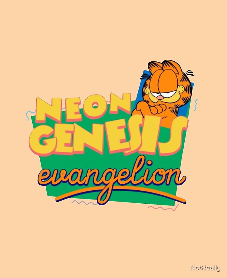 Neon Genesis Evangelion Garfield Ipad Case Skin By Notreally Redbubble