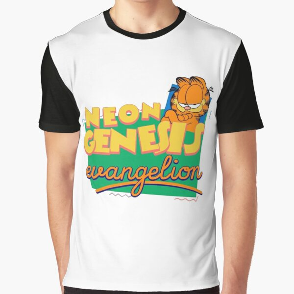 Neon Genesis Evangelion Garfield Graphic T-Shirt
