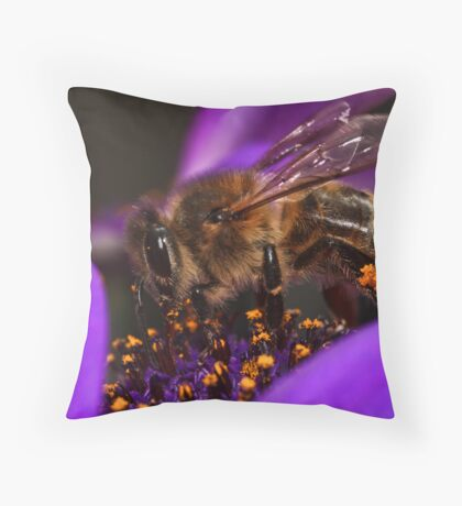 Bee in the Midst Throw Pillow