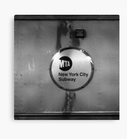 signs, subway, nyc Canvas Print