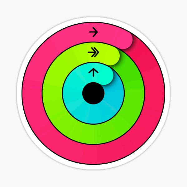 Apple Watch Activity Rings - Close Your Rings - T-Shirt  Sticker