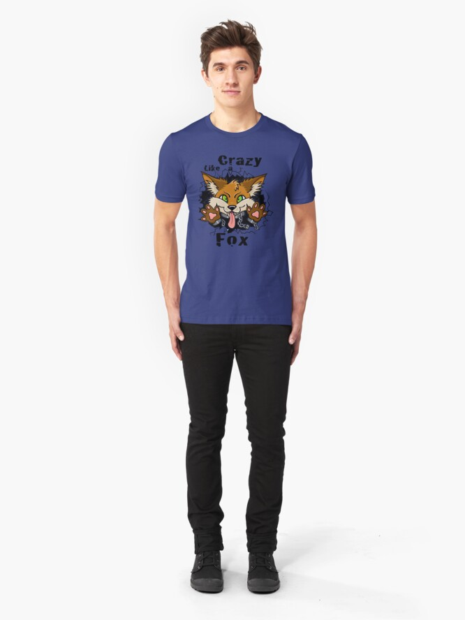 Alternate view of Crazy Like a Fox! Slim Fit T-Shirt