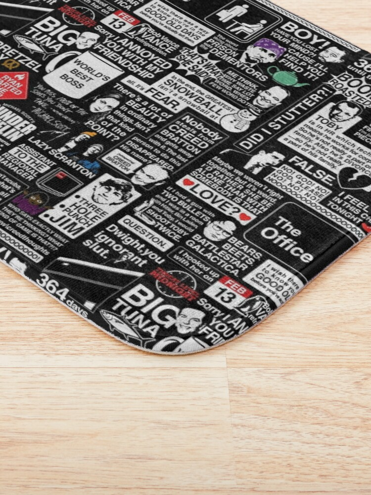 Alternate view of Wise Words From The Office - The Office Quotes Bath Mat
