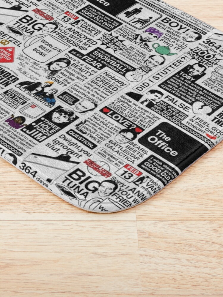 Alternate view of Wise Words From The Office - The Office Quotes (Variant) Bath Mat
