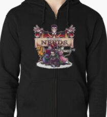 D&D is For Nerds Zipped Hoodie