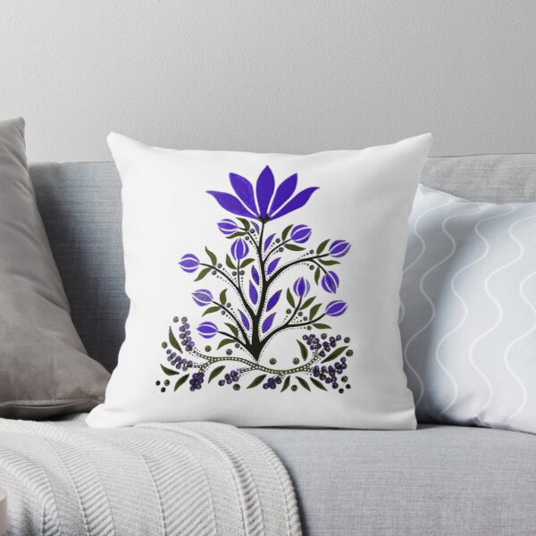 Violet Not Violence Throw Pillow