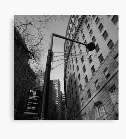 the street, lower manhattan, nyc Canvas Print