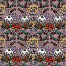 Australian Native Flowers - Mauve  by Ohlittlespark