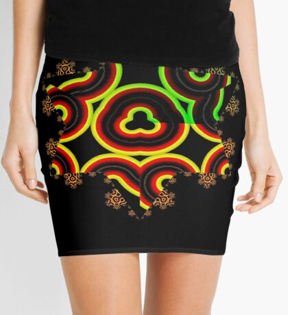 Koch Curve VII Mini Skirt