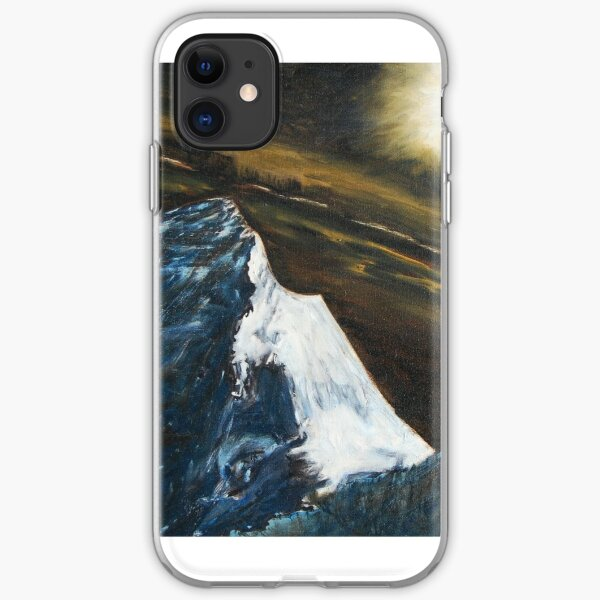 Mt. Everest by moonlight iPhone Soft Case